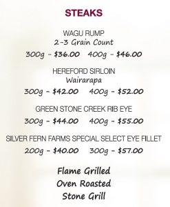 Steak, New Plymouth Restaurant
